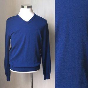 Size M J Crew Merino Wool V Neck Sweater
